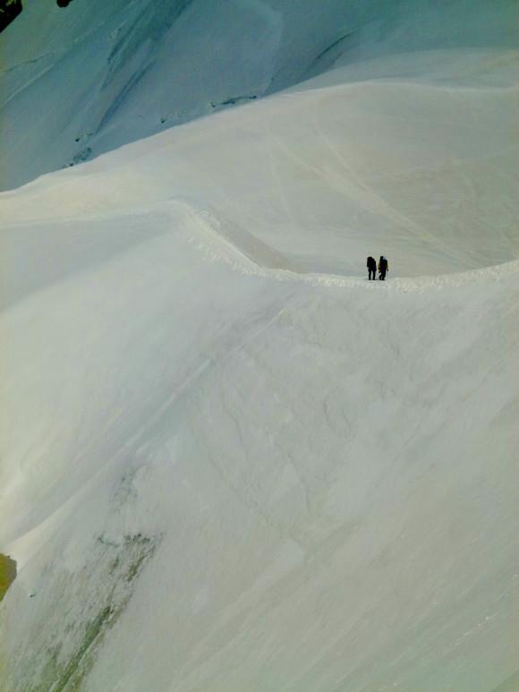 Approaching Aiguille du Midi